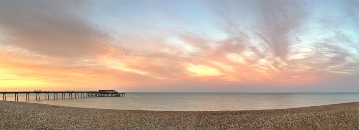 Deal pier sunrise panorama