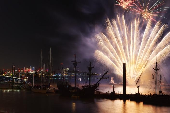 Tall Ships Festival, London 2017 Fireworks