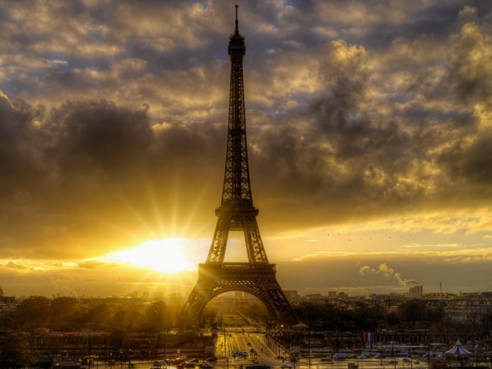 Sunrise Eiffel Tower, Paris