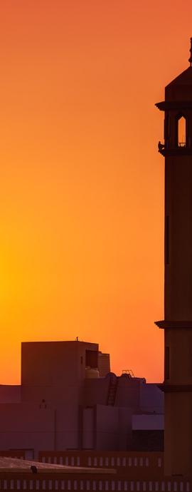 Mosque sunset, Kuwait