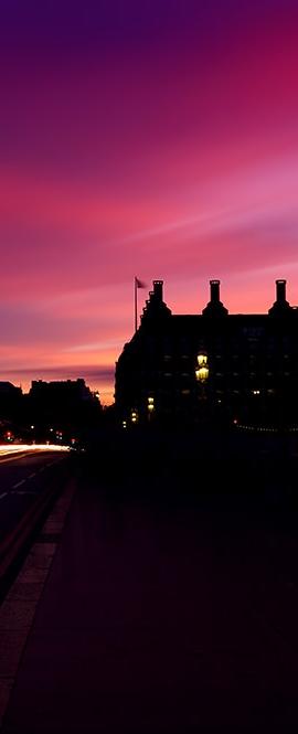 Westminster, sunset